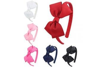 (Fs011-2) - 7Rainbows Girls Boutique Grosgrain Ribbon Headbands with Bows(FS011-2)