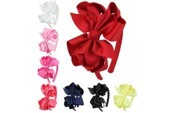 (FS070) - 7Rainbows Girls Colourful Bows Headbands for girls.