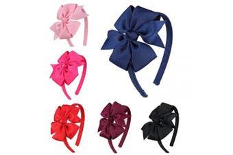 (Fs010-1) - 7Rainbows Girls Boutique Grosgrain Ribbon Headbands with Bows(FS010-1)