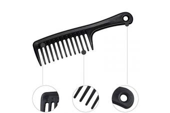 (104) - 104 Black Wide Tooth Carbon Fibre Comb Detangling Hair Brush,Paddle Hair Comb,235℃ Heat Resitent 100% Anti static,Care Handgrip Comb-Best Styling Comb for Long