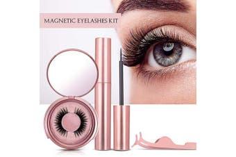 Vassoul Magnetic Eyelashes With Eyeliner, Magnetic Eyeliner And Lashes, Magnetic Eyelash, Magnetic False Lashes with Magnetic Eyeliners Kit Easy To Wear(Diamond)