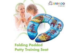 (Pirate) - Babyloo Foldable Cushioned Potty Training Seat with Travel Bag (Pirate)