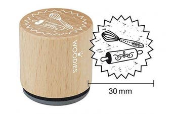 "(Whisk) - WOODIES Love Themed Stamp ""Whisk"" 2.5cm - 0.5cm Impression (071784)"