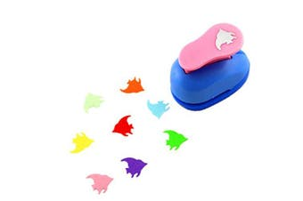 (Fish) - CADY Crafts Punch 2.5 cm Paper Punches Paper Flower (Fish)