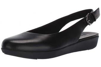 (4 UK, Black (All Black 090)) - FitFlop Women's Sarita Sling Backs Closed Toe Ballet Flats