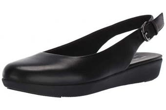 (5 UK, Black (All Black 090)) - FitFlop Women's Sarita Sling Backs Closed Toe Ballet Flats