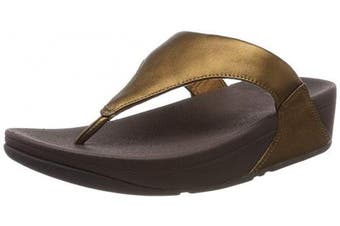 (8 UK, Brown (Bronze 012)) - Fitflop Women's Lulu Leather Toepost Open Toe Sandals