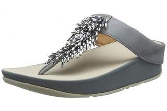 (8 UK, Blue (Dove Blue 534)) - Fitflop Women's Rumba Toe-Thong Sandals Open