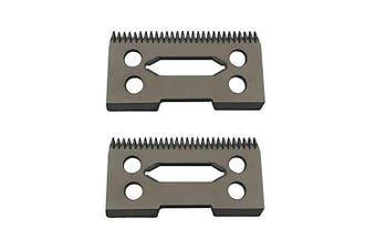 (2 x W Black) - professional ceramic clipper blades 2 hole2-Hole Clipper ceramic Blade cutter,ceramic clipper replacement blades for Wahl Senior cordless Clipper, wahl sterling (2 x W Black)