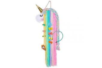 (Rainbow Unicorn) - Basumee Unicorn Hair Clip Organiser for Girls Wall Hanging Decor and Baby Hair Bow Holder