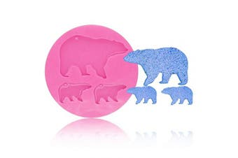Cute Bear Baby Mom Keychains Silicone Mould DIY Pudding Chocolate Handmade Ice Cream Crystal Gum Paste Ice Cube Candy Fondant Mould Soap Mould Jelly Shots Cupcake Cake Topper Decoration Desserts