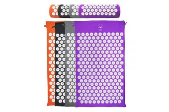(Purple ( mat only )) - Base yoga Acupressure mat/acupuncture mat for Massage/Wellness/Relaxation and tension release