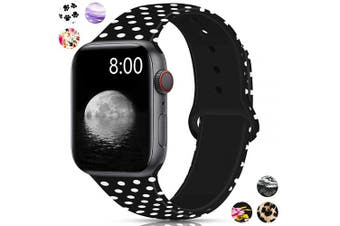 (42mm/44mm S/M, Dot) - Merlion Compatible with Apple Watch Band 38mm 42mm 40mm 44mm for Women/Men,Silicone Fadeless Pattern Printed Replacement Floral Bands for iWatch Series 4/3/2/1