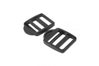 "(Webbing size:1-1/4"" (30mm) Black) - 5/8"" 3/4"" 1"" 1-1/4"" 1-1/2"" 2"" Plastic Black Ladder Lock Slider Adjustable Buckle for Backpack Straps Webbing Parts (Webbing Size:1-1/4"" (30mm) Black)"