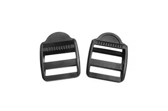 "(Webbing size:1-1/2""(36.5mm) Black) - 5/8"" 3/4"" 1"" 1-1/4"" 1-1/2"" 2"" Plastic Black Ladder Lock Slider Adjustable Buckle for Backpack Straps Webbing Parts (Webbing Size:1-1/2""(36.5mm) Black)"