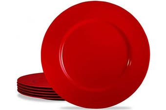 (Salad Plate, Red) - Calypso Basics by Reston Lloyd Melamine Salad Plate, Set of 6, Red