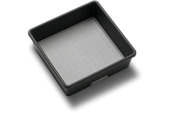 (17cm  x 17cm , Granite) - madesmart Classic 17cm x 17cm Bin - Granite | CLASSIC COLLECTION | Multi-Purpose Storage Organiser | Soft-grip Lining and Non-slip Rubber Feet | Easy to Clean | Durable | BPA-Free