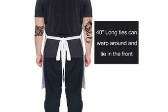 (Black15) - ALIPOBO Grill Aprons for Men Women, Dinner is Coming Game of Thrones Kitchen Chef Apron with 2 Pockets and 100cm Long Ties, Adjustable Bib Apron for Cooking, BBQ, Baking, Gardening, White