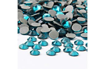 (4mm, Capri Blue) - Beadsland Crystal Hotfix Rhinestone,Machine Cut Stone 1440pcs/pkg (Capri Blue, 4mm)