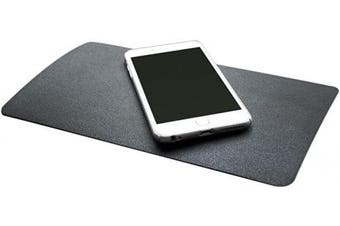 (Leather Grain) - DS. DISTINCTIVE STYLE Car Dashboard Mat 27cm x 15cm Extra Large Non-Slip Sticky Pad Anti Slip Mat Adhesive Mat for Phones, Glasses, Keys