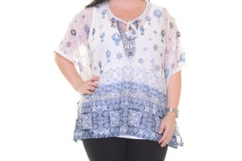 Style & Co Women's Cool Tribal Top Size S