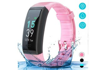(Pink) - AKASO Helium Fitness Tracker Activity Tracker with Heart Rate and Sleep Monitor Smart Pedometer Watch Calorie Counter Step Counter Fitness Tracker Watch for Kids Women Man (H-BAND3)