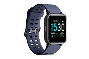 (Blue) - CHEREEKI Fitness Tracker, Fitness Watch with Heart Rate Monitor Waterproof IP68 3.3cm Colour Screen Smartwatch, Stopwatch, Step Counter, Sleep Monitor Activity Tracker for Men Women Kid