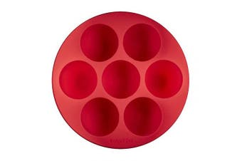 Instant Pot 5252242 Official Silicone Egg Bites Pan with Lid, Compatible with 5.7l and 5.7l cookers, Red
