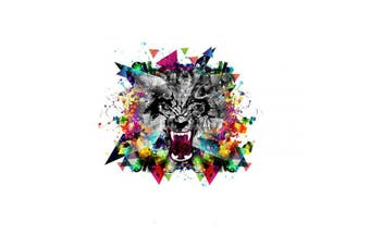 (Wolf Head) - 2Pcs Mini Animal Iron on Heat Transfer A-Level Washable Patches Stickers for T-Shirts Jeans Coats DIY Accessory (Wolf Head)