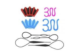 8Pcs Hair Braiding Tool Sponge Hair Braider Twist Styling Braid Tool Holder Clip DIY