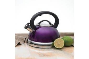 (Purple) - Creative Home Alexa Stainless Steel Whistling Tea Kettle, Purple, 2.8l