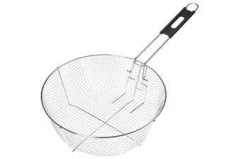 (Silver, 28cm ) - Lodge Deep Fryer Basket - Large Basket