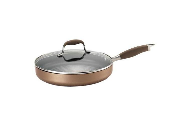 Anolon Advanced Bronze Covered Grill Pan, 11 Hard Anodized Nonstick