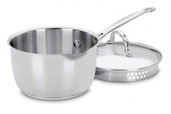(Silver) - Cuisinart Chef's Classic Stainless 1.9l Stainless Steel Cook & Pour Saucepan