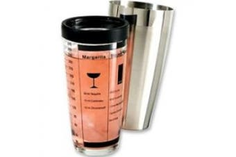 Oggi Professional 440ml Glass and Stainless Steel Cocktail Shaker Set