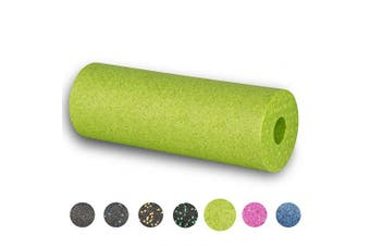 (Apple-Green) - BODYMATE 45cm long STANDARD medium-hard smooth foam roller with free E-BOOK