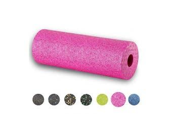 (Fuchsia-Pink) - BODYMATE 45cm long STANDARD medium-hard smooth foam roller with free E-BOOK