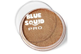(Metallic Antique Gold) - Blue Squid Pro Face Paint – Metallic Antique Gold (30gm), Superior Quality Professional Water Based Single Cake, Face & Body Makeup Supplies for Adults, Kids & SFX