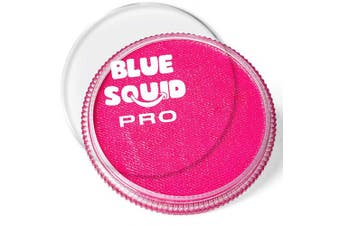 (Pink) - Blue Squid Pro Face Paint – Classic Pink (30gm), Superior Quality Professional Water Based Single Cake, Face & Body Makeup Supplies for Adults, Kids & SFX