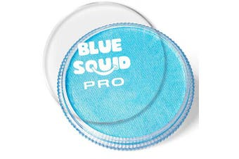(Light Blue) - Blue Squid Pro Face Paint – Classic Light Blue (30gm), Superior Quality Professional Water Based Single Cake, Face & Body Makeup Supplies for Adults, Kids & SFX