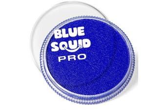 (Royal Blue) - Blue Squid Pro Face Paint – Classic Royal Blue (30gm), Superior Quality Professional Water Based Single Cake, Face & Body Makeup Supplies for Adults, Kids & SFX