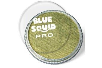 (Metallic Bronze Green) - Blue Squid Pro Face Paint - Metallic Bronze Green (30gm), Superior Quality Professional Water Based Single Cake (Metallic Bronze Green)