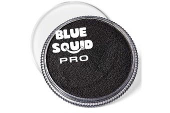 (Black) - Blue Squid Pro Face Paint – Classic Black (30gm), Superior Quality Professional Water Based Single Cake, Face & Body Makeup Supplies for Adults, Kids & SFX