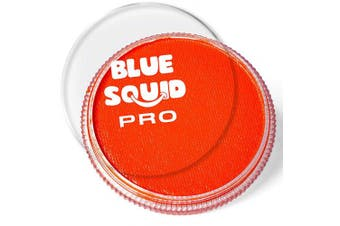(Orange) - Blue Squid Pro Face Paint – Classic Orange (30gm), Superior Quality Professional Water Based Single Cake, Face & Body Makeup Supplies for Adults, Kids & SFX
