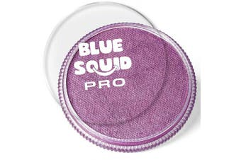 (Metallic Purple) - Blue Squid Pro Face Paint – Metallic Purple (30gm), Superior Quality Professional Water Based Single Cake, Face & Body Makeup Supplies for Adults, Kids & SFX