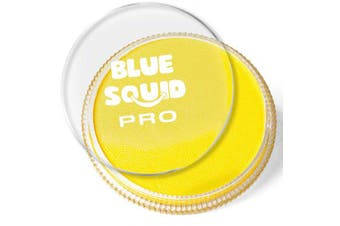 (Yellow) - Blue Squid Pro Face Paint – Classic Yellow (30gm), Superior Quality Professional Water Based Single Cake, Face & Body Makeup Supplies for Adults, Kids & SFX