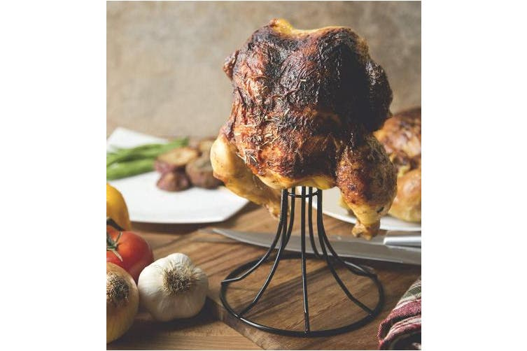 (Vertical Chicken Roaster, Non-Stick) - Fox Run 5667 Non-Stick Poultry Roaster Stand, Holds 3.63kg
