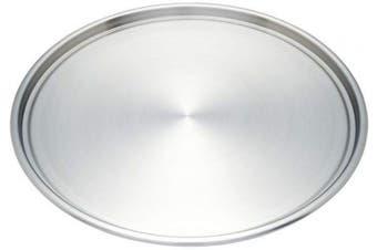 Maxam 12-Inch Stainless Steel Pizza Baking Pan KTBKPZ