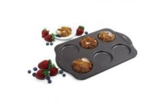 (1, As Shown) - Norpro Puffy Muffin Top Pan Makes 6 Non Stick High Rise Crown 10cm Wide .13cm Deep