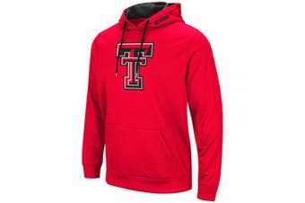 (X-Large, Texas Tech Red Raiders-Red) - Colosseum Men's NCAA-Elite Zone Pullover Hoodie Sweatshirt
